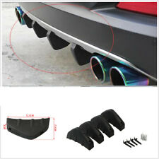 4PCS Car Rear Bumper Lip Diffuser Shark Fin Spoiler Wing Splitter ABS Plastic