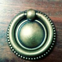 Brass FURNITURE Hardware Drawer Ring Pull with Backplate Bosetti Marella Italy