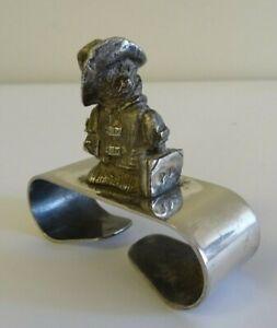 Vintage (1979) Falstaff silver-plated Paddington Bear napkin ring