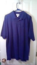 Vintage Izod Men's Polo Shirt Size XL Cotton Dark Blue Solid Embroidered Logo