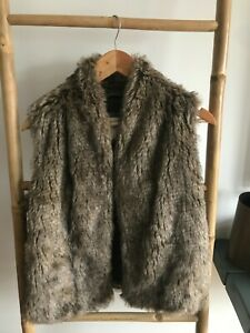 Abercrombie & Fitch Faux Fur Gilet - Size Medium