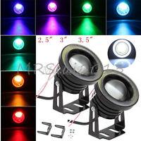 "2.5"" 3"" 3.5"" COB LED Fog Light Projector Angel Eye Halo Ring DRL Driving Bulbs"