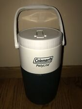 Coleman PolyLite 1/2 Gallon Green Water Jug Spout Handle Portable 5590 Drinking