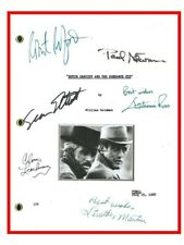 Butch Cassidy And The Sundance Kid Script Signed Rpt Paul Newman Robert Redford