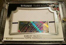 2011 Topps Marquee - Titanic Threads - Hanley Ramirez Relic Auto #02/10 #TTJA-92