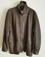 Vintage W. B. Place & Co Brown Deerskin Leather Jacket Mens Large Made in USA