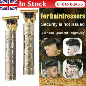 Electric Hair Clippers Professional Mens Retro Cordless Trimmer Beard Shaver UK#