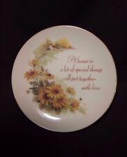 Lasting Treasures Miniature Decorative Plate Genuine Porcelain - A Lil Beauty!