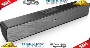 Computer Speakers,  Bluetooth 5.0 Wireless PC Sound Bar, Stereo USB Powered