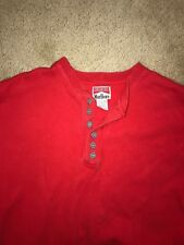 Vintage Marlboro Unlimited Red Ribbed Henley Size Xxl