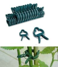 NEW REUSABLE PLANT CLIPS PATIO SUPPORT FIXING CLIPS SPRING GARDENING SET