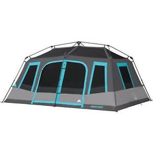 10-Person Instant Cabin Tent Dark Rest Blackout Windows Outdoor Camping NEW