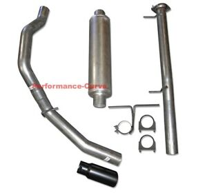 "11-19 GM Silverado Sierra 2500 3500 6.0 CC-SB 3.5"" Exhaust Kit with HD Muffler"