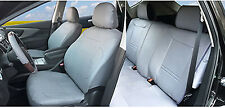 PU Leather Full 5 Seats Front Rear + 2 Pillows to SUV Truck Van Gray