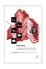 Stampa incorniciata-H G Knoll sedia Pubblicità Poster NYC (PICTURE Eames Bertoia)