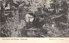 BR62140 the brook and bridge  somersby  uk