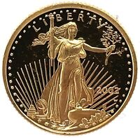 2002-W American Gold Eagle Proof (1/10 oz) $5 - Coin Only. #2