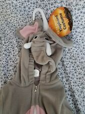 Halloween elephant costume 2-piece jacket and pants set 12 to 18 months new