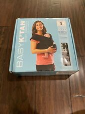 Baby K'Tan Carrier Small Light Gray NEW OPEN Wrap Sling Soft Cotton Sweetheart