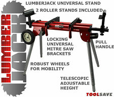 Lumberjack MSS200 Trade Extendable Universal Mitre Saw Stand Height Adjustable