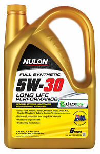 Nulon Full Synthetic Long Life Engine Oil 5W-30 6L SYN5W30-SIX fits Chrysler ...