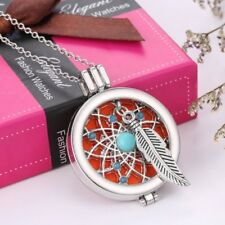 Essential Oil Fragrance Aromatherapy Diffuser Locket Pendant Necklace +3pcs Pads
