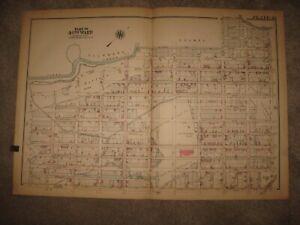 HUGE ANTIQUE 1927 WARD 40 PHILADELPHIA PENNSYLVANIA HANDCOLOR MAP SCHOOL SUPERB