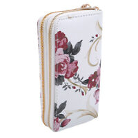 Women's Zipper Wallet Large Clutch Cellphone Bag with Wristlet and ID S