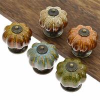 Ceramic Pumpkin Pull Handle Leopard Drawer Cabinet Knob Handle Home Decor 1pc