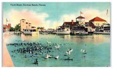 Mid-1900s Yacht Basin, Daytona Beach, FL Postcard