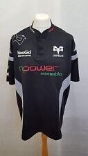 KooGa Ospreys Rugby Shirt Size XXL - Home 2007/2008 Black & Grey