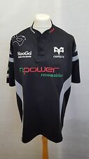 Kooga Ospreys Rugby Camicia Taglia XXL-Home 2007/2008 Nero e Grigio