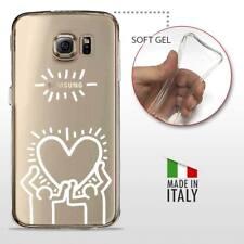 Galaxy S6 TPU CASE COVER GEL PROTETTIVA TRASPARENTE KEITH HARING