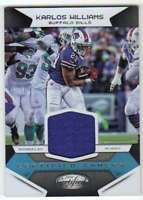 2016 Panini Certified Jersey Relic Certified Gamers #5 Karlos Williams Bills