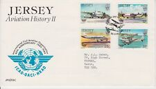 Jersey FDC First Day Cover 1984 Aviation History II 10% off 5