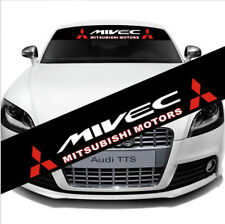 Car Front Rear Windshield Banner Decal Reflective Sticker MIVEC Mitsubishi Motor