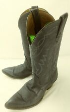 vtg Nocona Womens Boots 59132 US 6 Blue Leather Pull On Western Rockabilly