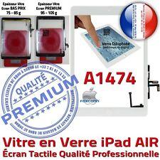 Vitre Tactile iPad A1474 Blanc Ecran Assemblé Nappe Bouton HOME Adhésif Prémonté