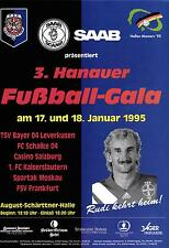 17./18.01.1995 DFB-Masters Hanau mit Spartak Moskau, Casino Salzburg, Schalke...