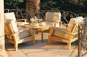 Somer A-Grade Teak Wood 5 pc Outdoor Garden Patio Sofa Lounge Chair Set New