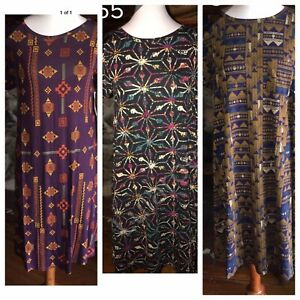 LuLaRoe Carly Lot of 3 Dress SMALL S Dresses NWT New Christmas Gifts