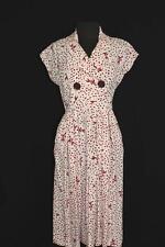 RARE DEADSTOCK VINTAGE 1950'S GIRAFFE PRINT RAYON GABARDINE  DRESS SIZE 6