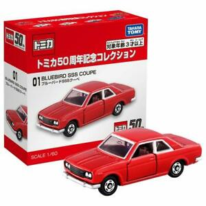 Takara Tomy Tomica 50th Anniversary 01 BLUEBIRD SSS COUPE Scale 1/60 Diecast car