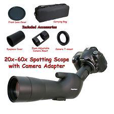 20-60x 60a 2000mm 6000mm Spotting Telescope for Nikon D5500 D750 Digiscoping