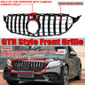 GT R AMG Style Grill Grille Front Bumper for Mercedes Benz W205 C250 C300