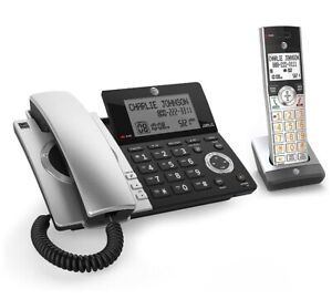 AT&T CL84107 DECT 6.0 Expandable Corded/Cordless Phone with Smart Call Blocker -