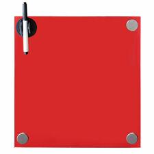Pinnwand 60x20CM Memoboard Rot Whiteboard  Magnettafel Glasmagnettafel ✎