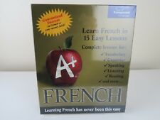 A+ French CD by Transparent Language PC CD-Rom 15 LESSONS BRAND NEW BIG BOX PC