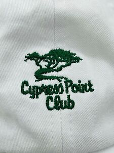 Cypress Point Golf Club White Embroidered Adjustable Cap Hat Imperial USED Rare