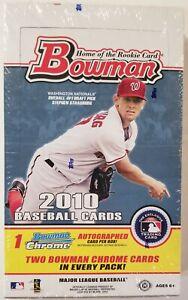 2010 Bowman Baseball Hobby Box Factory Sealed - 24 packs/box. From a sealed case